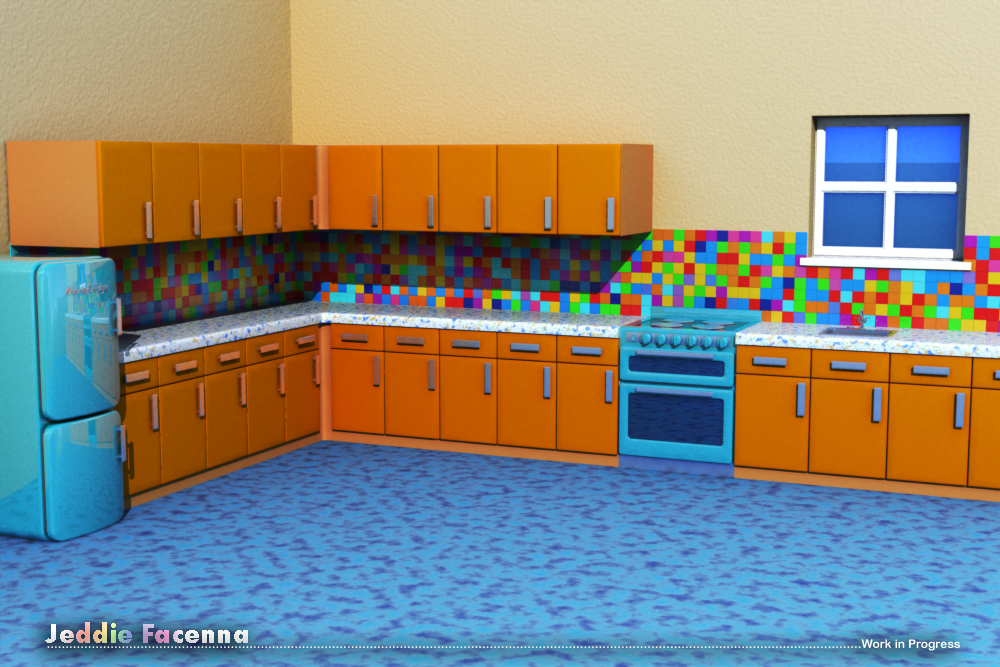 topic cartoon kitchen
